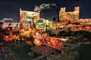 המופע האור-קולי במגדל דוד