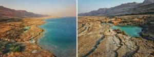 הבריכות הצבעוניות של ים המלח